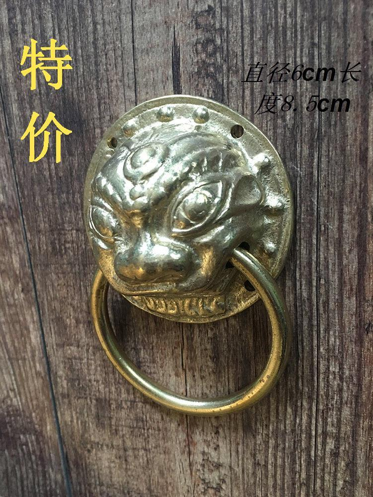 Special offer! Chinese antique copper copper door handle small wooden door handle small lion beast head copper handle [] every day special offer wooden wood self defense stick home car wooden baseball bat hard wooden club club
