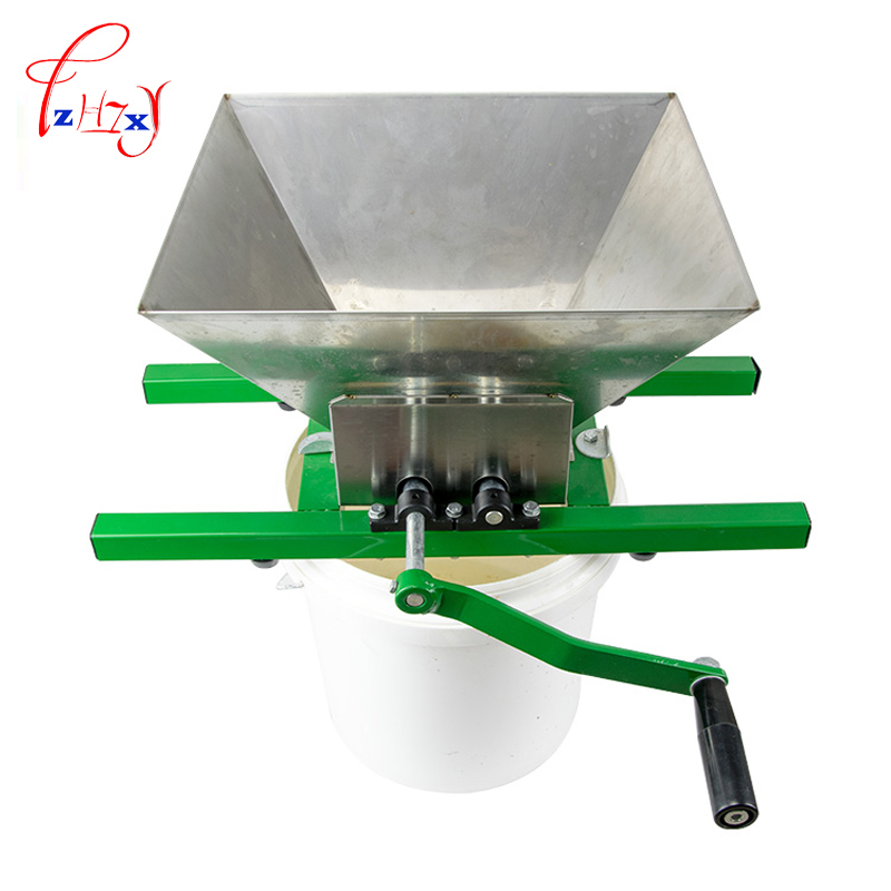 Manual Home Fruit Pulverizer 7 L Pulper Fruit Crusher Portable Fruit Scratter Cider Wine Juice Press Crusher