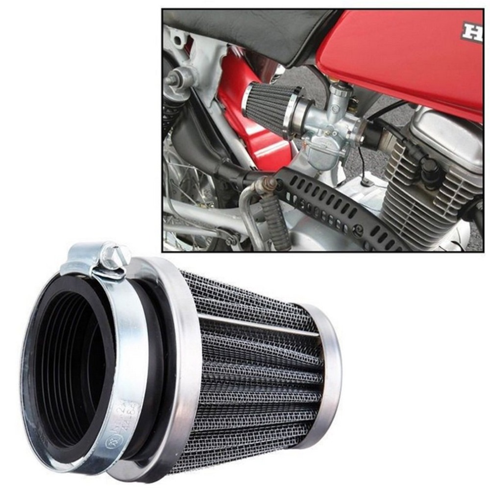 2019 Universal 35/39/42/44/48/50/52/54/60mm Motorcycle Mushroom Head Air Filter Clamp On Air Filter Cleaner Hot Selling image