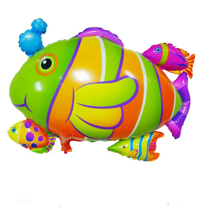 27 inch cartoon animal fish foil Nylon helium Balloons hydrogen Kids chidren Birthday Party celebration festival decor