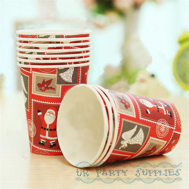 300pcs Christmas Paper Cups Supplies Party Decoration Tableware Classic Christmas Party Elegant Holly Disposable 9oz Paper & 300pcs Christmas Paper Cups Supplies Party Decoration Tableware ...