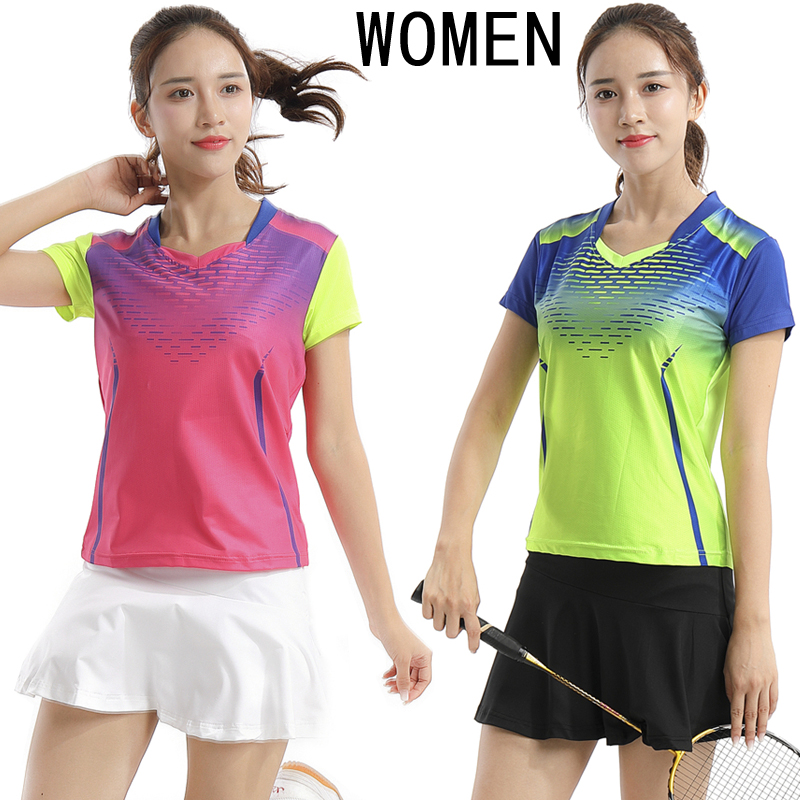 New tennis suit (shirt + skirt), badminton dress, short sleeve, T-shirt, breathable sweat absorption sports clothes