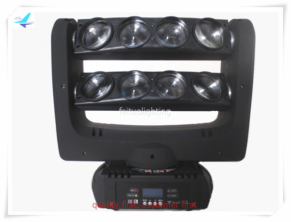 New Spider Beam LED Moving Head Light 8 Eyes 8x10W RGBW 4IN1 Stage Bar Beam Lighting Pixel Spider Movinghead for Disco DJ Show