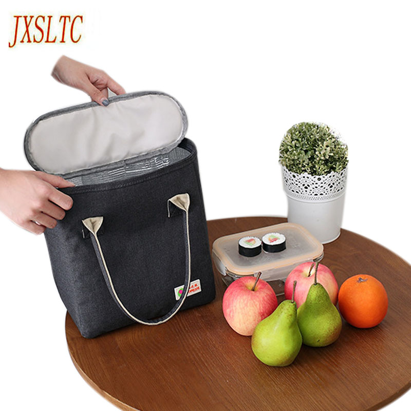 JXSLTC Simple and Stylish Thermo Lunch Bags Thermal Lunch Box for Kids Food bag Picnic Bag Handbag Cooler Insulated Lunch Box