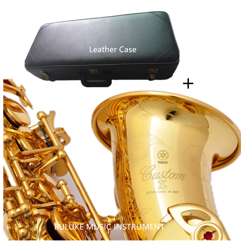 YAS-82Z Saxophone alto Eb sax mouthpiece Gold Lacquer carving pattern gold saxophone with case mouthpiece brass music instrument tenor saxophone free shipping selmer instrument saxophone wire drawing bronze copper 54 professional b mouthpiece sax saxophone