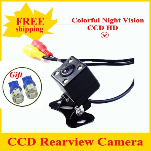Factory Sell CCD Car Rearview Camera coloful night vision Wide Angle car rear view camera reversing Backup Camera Rear Camera