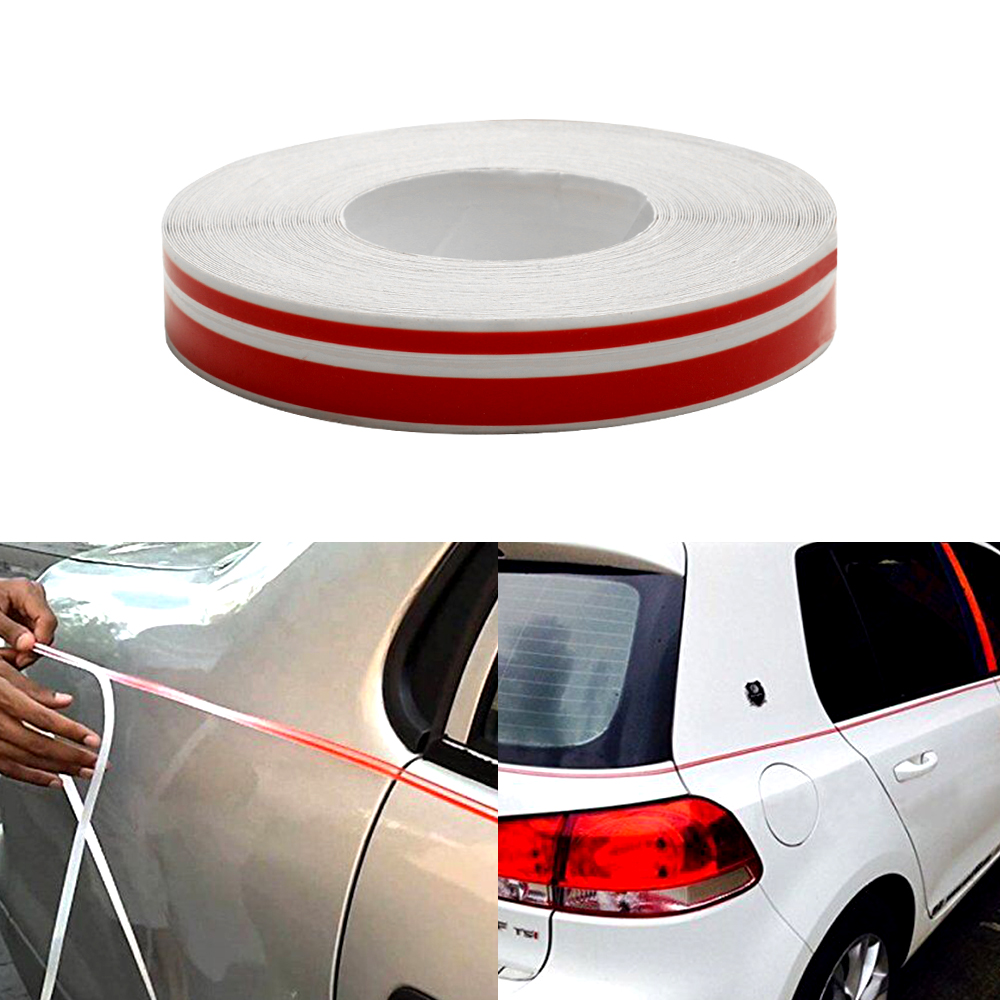 Red Black White Gold Silver Blue  9800mm Stripe Tape Streamline Decals for Car Styling Double Line Good stickiness Stickers