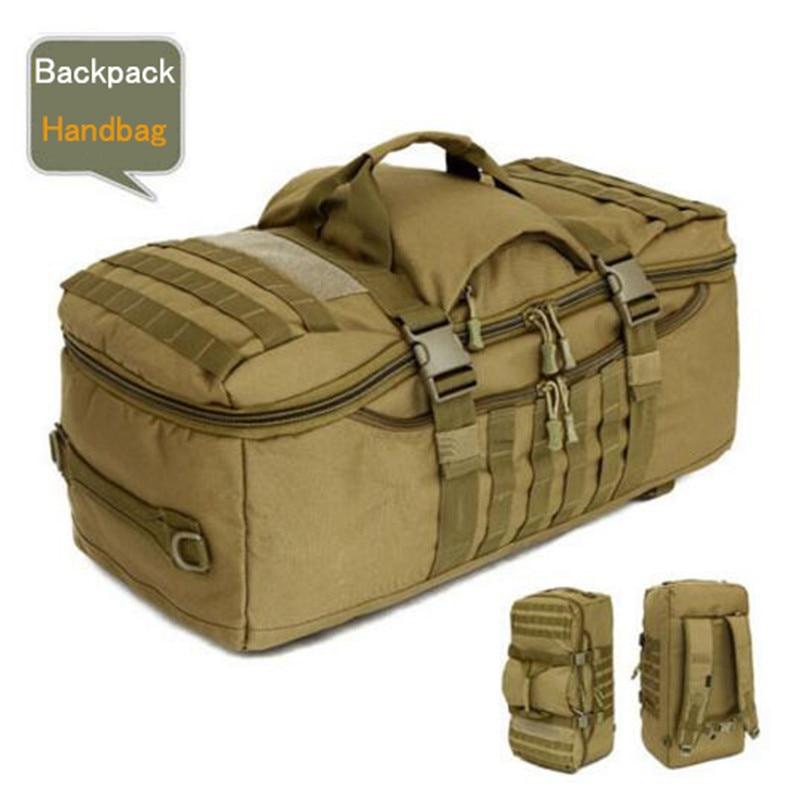50 リットルのバックパック旅行組み合わせバックパック大大男性旅行バッグ耐久力のある登山デュアルユース防水バケツ shoul  グループ上の スーツケース & バッグ からの バックパック の中 1