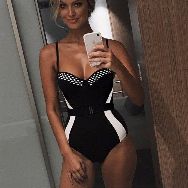 buy online 70036 e5055 Mode Frauen Sexy Brazilian bikini Push up Padded Ein Stück Körper Bademode  tunika Monokini Elegante Damen Badeanzug badeanzug