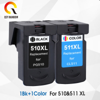 CMYK SUPPLIES Compatible Ink Cartridge Replacement for Canon PG 510 CL 511 PG510 CL511 PG 510 CL 511 for Pixma MP240 250 MP260
