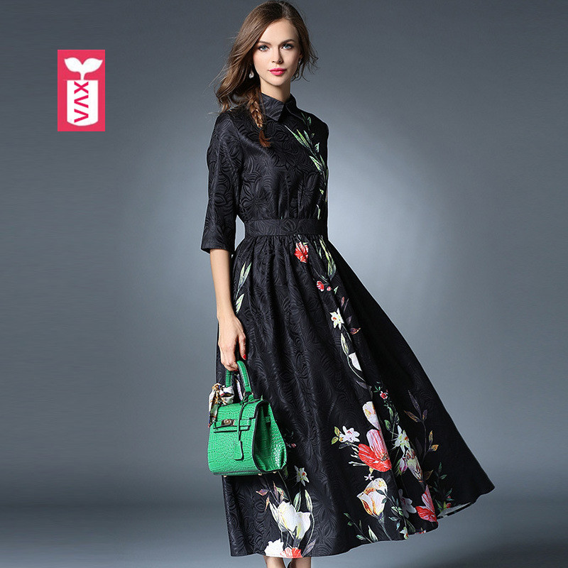 High-End Brand Sweet Princess Big Flowers Formal Gowns Party Womens ...