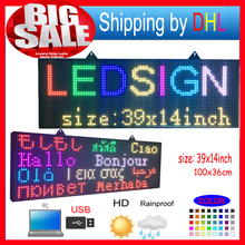 FULL COLOR RGB Programmable Led Signs/  P10  smd  Outdoor led Scrolling Message  Display / high brightness  LED display