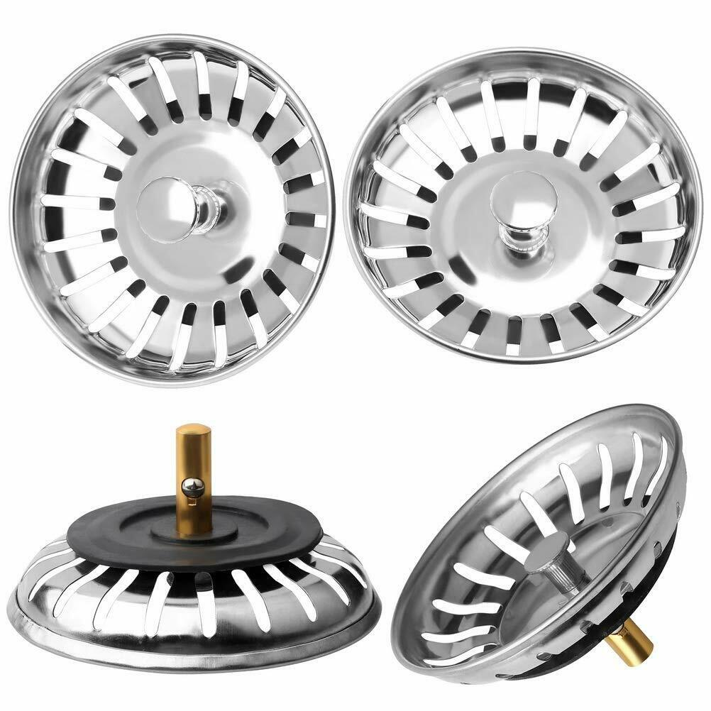 Stainless Steel Kitchen Sink Strainer Stopper Sewer Waste Plug Sink Filter Bathroom Hair Catcher Kitchen Accessories