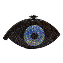 Gold Evil eye bag Women clutch bag silver evening bag femme pochette bag luxury Crystal day Clutch bling party purse SC023