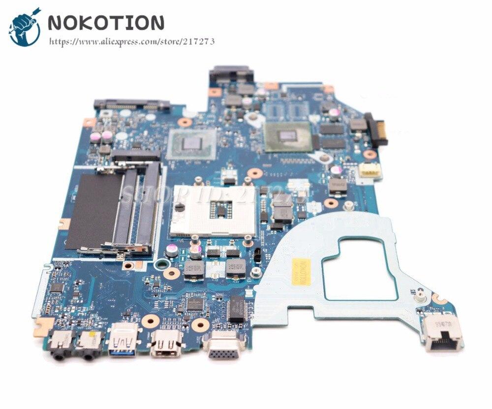 NOKOTION Para Acer aspire E1-571G V3-571G V3-571 Laptop Motherboard NBM6B11001 NBM5711001 LA-7912P HM77 DDR3 710 M placa De Vídeo