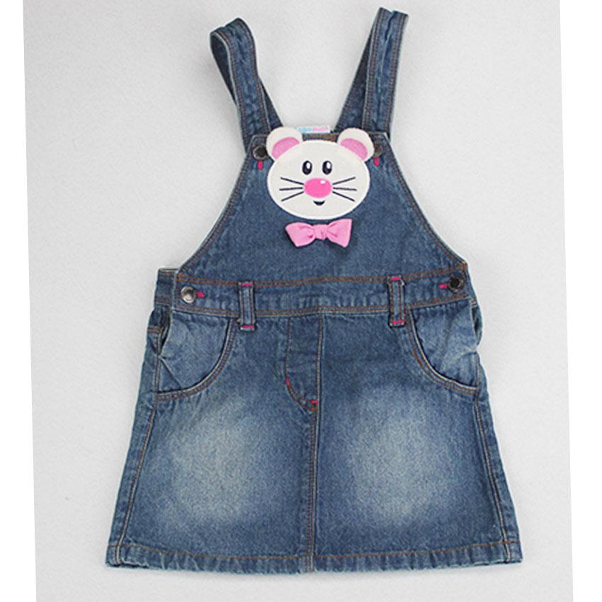 Girls Denim Overall Dress