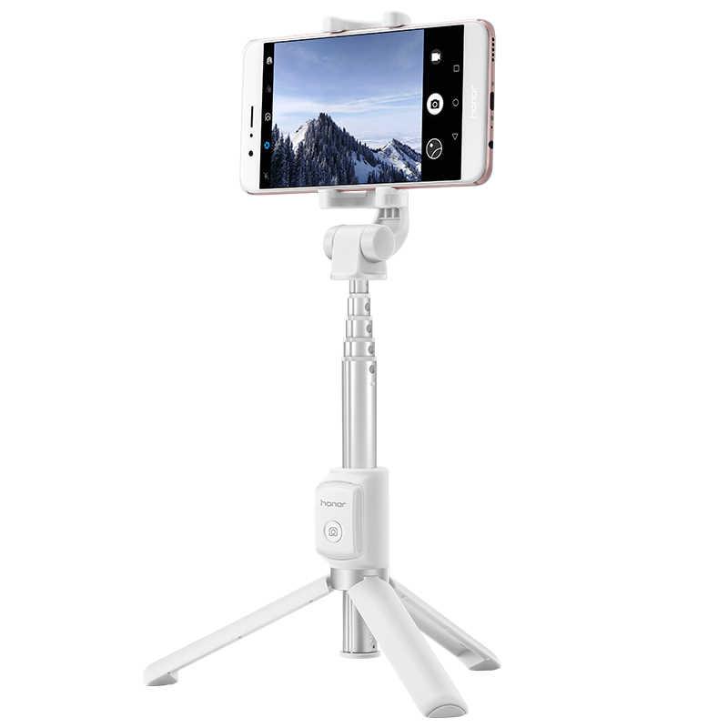 Asli Huawei Honor AF15 Bluetooth Selfie Stick Tripod Portable Kontrol Nirkabel Monopod untuk IOS/HUAWEI/Xiaomi Ponsel
