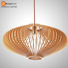 Personalized Honeycomb Led Pendant Lights Living Room Dining Room Solid Wood Pendant Lamps American Rustic Lamps Free Shipping