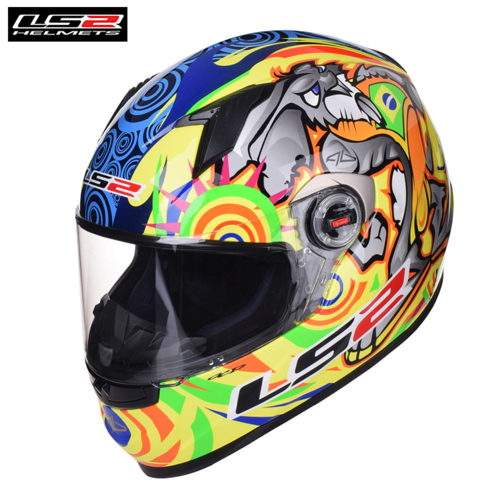 LS2 Racing Full Face Motorcycle Helmet FF358 Casco Casque Capacete Moto Helm Kask Helmets Crash For Honda Motocyklowy Helmet original ls2 ff353 full face motorcycle helmet high quality abs moto casque ls2 rapid street racing helmets ece approved