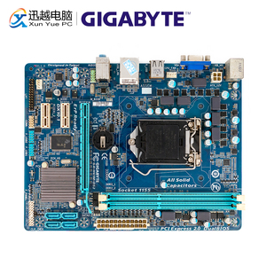 Image 1 - Gigabyte GA H61M DS2 Desktop Motherboard H61M DS2 H61 LGA 1155 For Core i3 i5 DDR3 16GB Micro ATX Used Mainboard