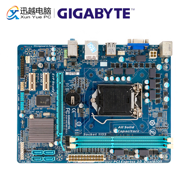 Gigabyte GA H61M DS2 Desktop Motherboard H61M DS2 H61 LGA 1155 For Core i3 i5 DDR3 16GB Micro ATX Used Mainboard