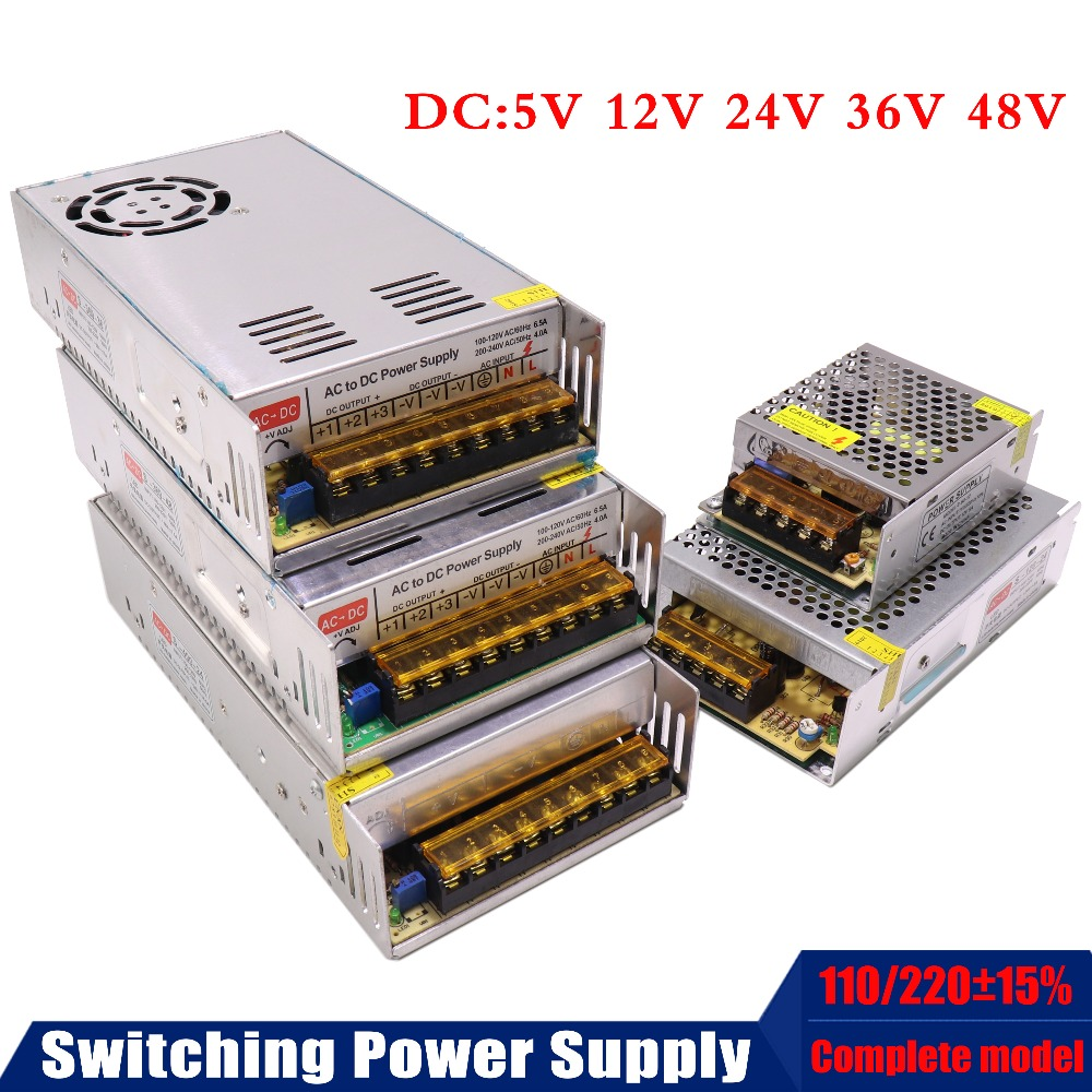 DC5V 12V 24V 36V 42V 48V 60V 300W 350W 360W 600W Switching Power Supply Source Transformer AC DC CNC / LED/monitoring/3D printer