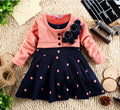new 2017 summer 1-6 years child clothing children clothes corsage girl dress dresses baby Princess dress polka dot  mock two pcs