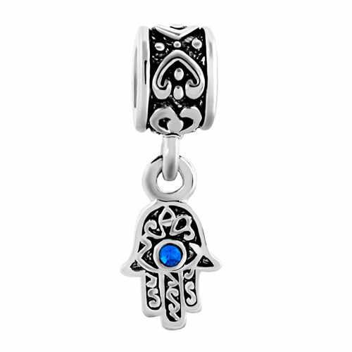 Darmowa wysyłka prezent na Boże Narodzenie 1 pc serce niebieski Evil Eye dynda wiszące koralik charms fit europejskiej pandora bransoletka w stylu B060