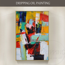 Fashion Wall Art Hand painted Rich Colors Abstract Oil Painting on Canvas Big Brush Knife Abstract Oil Painting for Living Room