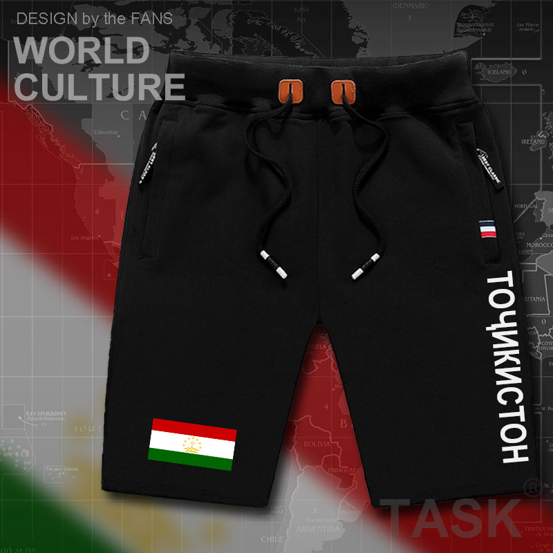 Tajikistan Mens Shorts Beach Man Men's Board Shorts Flag Workout Zipper Pocket Sweat Bodybuilding 2017 Cotton Brand NEW Tajik TJ