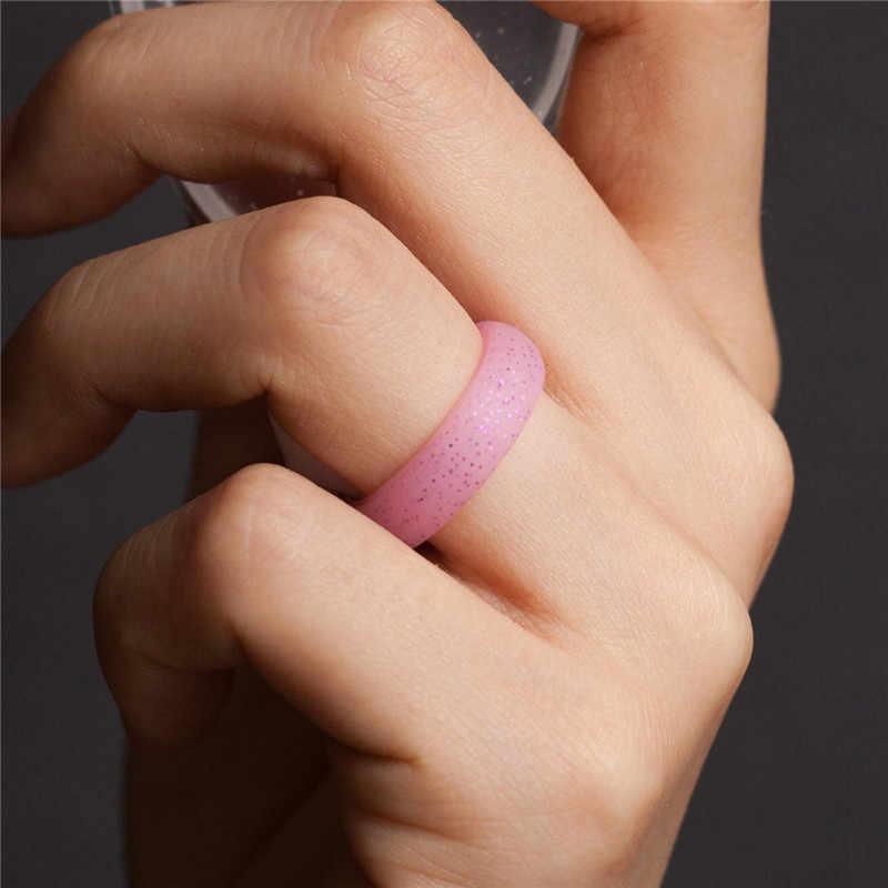 Yesucan 7 Adet 5.7 MM silikon halka Silikon Kauçuk Vape Yüzük Adam Hipoalerjenik Crossfit Esnek Erkek Yüzük Takı Düğün Hediye