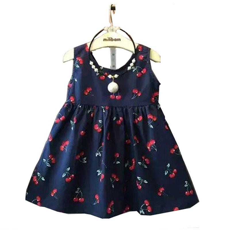 bd26fc5b0 طفلة اللباس الصيف الاطفال المراهقين أكمام طباعة نمط فساتين ملابس للبنات  2016 الأطفال طفل القطن vestidos
