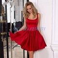Precioso Arco Vestidos de Coctel Elegantes Sexy vestido de Bola Vestido de Cóctel robe den cóctel Formal Del Partido Short Prom Gwons