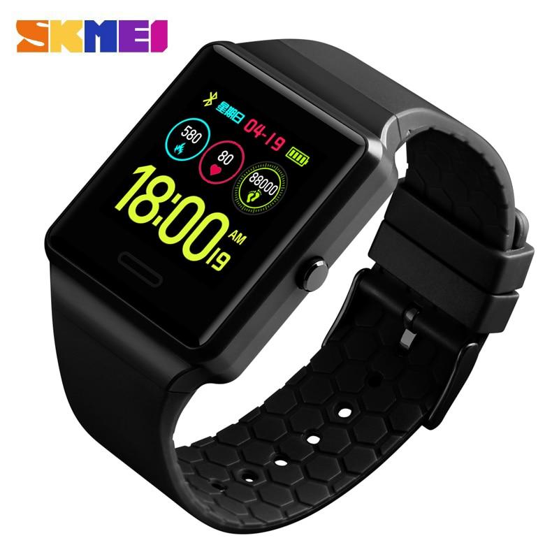 SKMEI Brand Men s Smart Watch Luxury Sport Smart Bracelet Blood Pressure Monitor Color Display Electronic