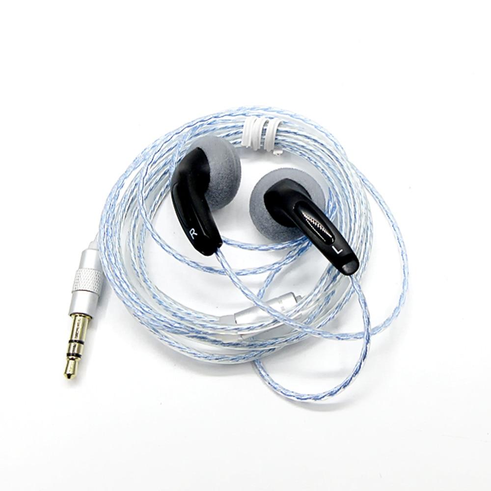 Newest FENGRU DIY EMX500S In-ear Earphones Flat Head Plug DIY Earphone HiFi Bass Earbuds DJ Earbuds Heavy Bass Sound Quality