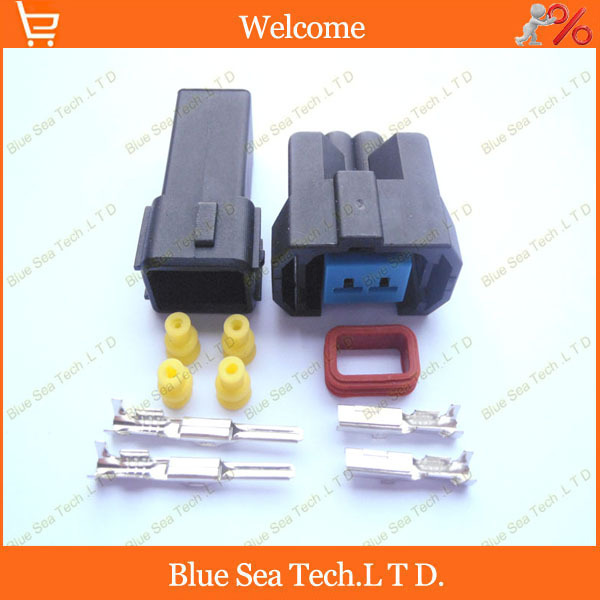Sample,2 sets 2Pin Oil nozzle plug/connector,Fuel spray nozzle connector for Honda Charade car ect.Methanol refit 10kit 3b0 972 712 2pin car connector car light inspection plug