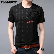 COODRONY T Shirt Men 2019 Summer New Streetwear Casual Short Sleeve T-Shirt Dragon Pattern O-Neck Top Tee Homme S95108