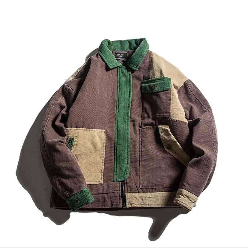 Новинка 2017 года Для мужчин и Для женщин хлопок шить ретро моды зимняя теплая куртка вельвет Ткань рубашка свободные японской уличный стиль