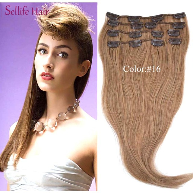 Clip In Lady Girls 151820inches Hair Extensions 100 Real Person