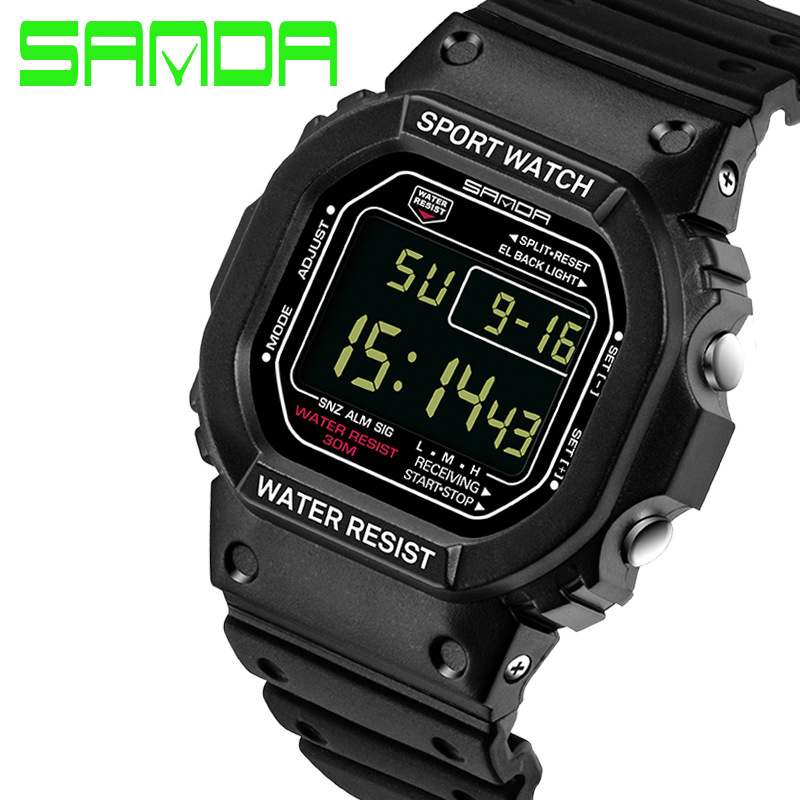 Sanda Herenhorloges elektronisch led Montre homme sporthorloge - Herenhorloges - Foto 4