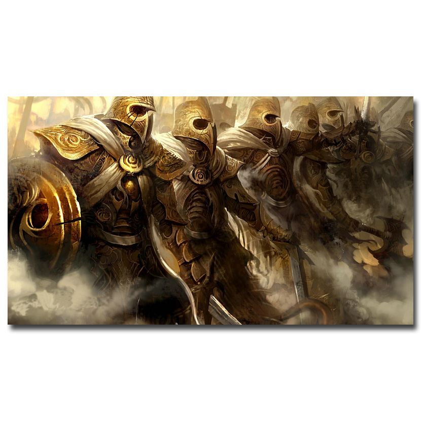 Guild Wars 2 Art Silk Fabric Poster Print 13x24 24x43 inch Hot Game Picture for Living Room Wall Decoration 004