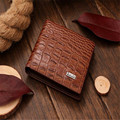 New men's crocodile vertical section wallet!Free Shipping!