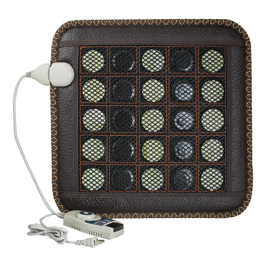 Electric Heating Pad Germanium Stone Sofa Cushion Jade Stone Massage Mat Heating Far Infrared Health Cushion 45*45CM jade cushion ms tomalin germanium stone cushion far infrared heating health boss chair cushion foot 45 45 cm