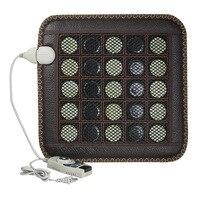 Electric Heating Pad Germanium Stone Sofa Cushion Jade Stone Massage Mat Heating Far Infrared Health Cushion 45*45CM