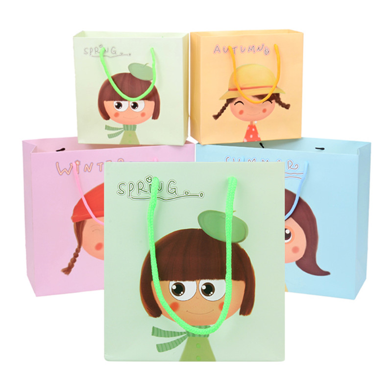 Cartoon Cute Gift Bags High End Paper Bag Baby Birthday Spring Summer Autumn Winter 10pcs L M S In Wring Supplies From Home