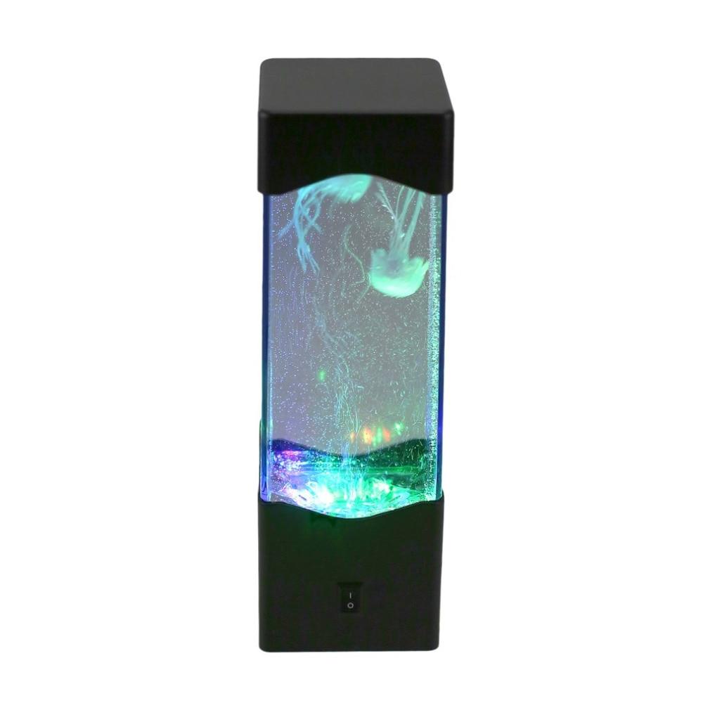 Светодиодный коробка шарик воды аквариум мини рыба свет Медузы лампы расслабиться тумбочка освещения ночь настроение огни украшения Новый