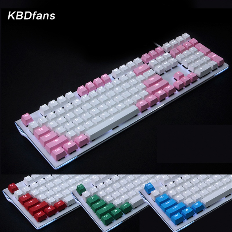 цена на 108 key PBT Double shot Translucidus Backlit Keycaps ANSI KEYCAP Mechanical gaming Keyboard