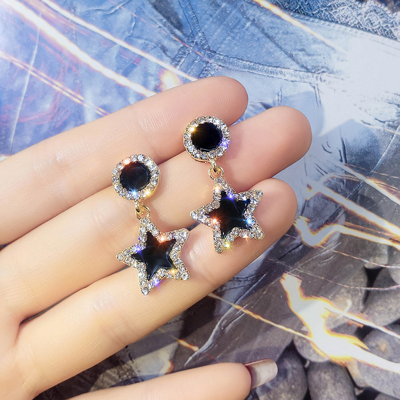 2019 New Fashion Jewelry Simple 925 Silver Needle Earrings Female Crystal From Swarovskis Temperament Personality Wild Fit Women