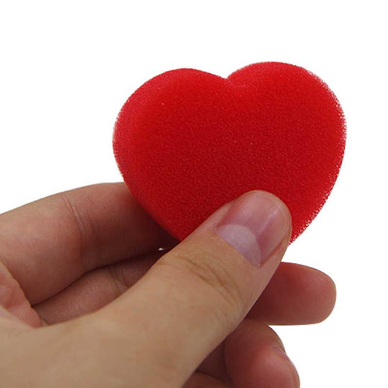 10 шт./упак. губка сердца волшебная губка сердце Форма Волшебные трюки, которые быстро появляются крупным планом реквизит для фокусов комедии Magica игрушки