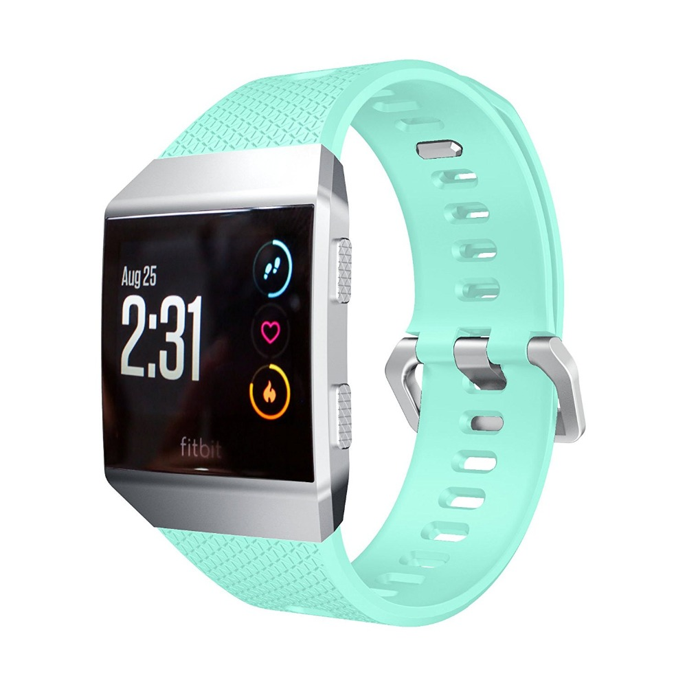 US $9 95 |Ktab Watch Bands for Fitbit Ionic Bands Accessories Silicone  Sport Strap with Stainless Steel Metal Clasp for Fitbit Ionic-in Smart